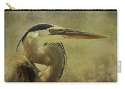 Heron On Texture Carry-all Pouch