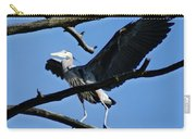 Heron Spreads Wings Carry-all Pouch