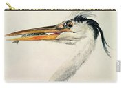 Heron With A Fish Carry-all Pouch