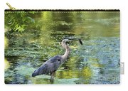 Heron With Fish Carry-all Pouch