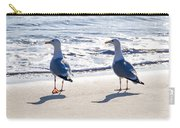 Herring Gulls On The Beach Carry-all Pouch