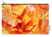 Hibiscus And Bees Carry-all Pouch
