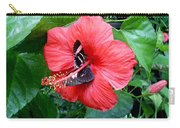 Hibiscus And Butterfly Diners Carry-all Pouch