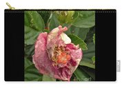 Hibiscus Bloom Closed In The Rain   End View      May           Indiana      Carry-all Pouch
