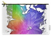 Hibiscus S D Z 2 Cool Rainbow 3 Dimensional Carry-all Pouch