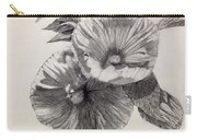 Hibiscus Sketch Carry-all Pouch