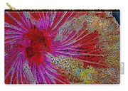 Hibiscus Stained Glass Carry-all Pouch