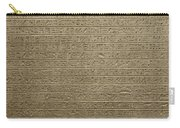 Hieroglyph Iv Carry-all Pouch