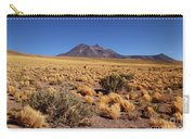 High Altitude Puna Grasslands And Miniques Volcano Chile Carry-all Pouch