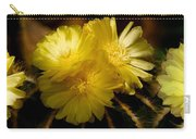 High Angle View Of Cactus Flowers Carry-all Pouch