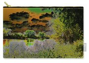 High Contrast River Sunset Carry-all Pouch
