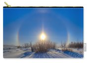 High Dynamic Range Photo Of Sundogs Carry-all Pouch
