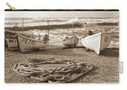 High Tide In Sennen Cove Sepia Carry-all Pouch