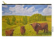 Highland Cattle Pasture Carry-all Pouch