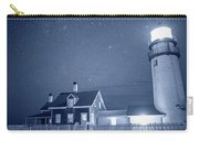 Highland Lighthouse Truro Ma Cape Cod Monochrome Blue Nights Carry-all Pouch