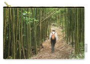 Hiker In Bamboo Forest Carry-all Pouch