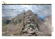 Hiker On Mt Eolus Catwalk - Chicago Basin - Weminuche Wilderness - Colorado Carry-all Pouch