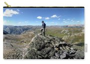 Hiker On White Dome Over Eldorado Lake - Weminuche Wilderness - Colorado Carry-all Pouch