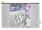 Hiking Down The Street I  Painterly Glowing Edges Invert  Carry-all Pouch