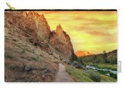 Hiking Trail At Smith Rock State Park Carry-all Pouch