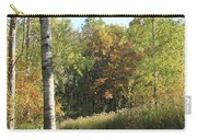 Hiking Trail In Autumn Sunset Carry-all Pouch