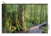Hiking Trail Through Forest In Lynn Canyon Park Carry-all Pouch