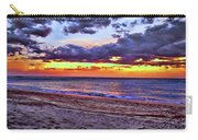 Hillsboro Beach Orange Sunset Hdr Carry-all Pouch