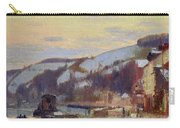 Hillside At Croisset Under Snow Carry-all Pouch