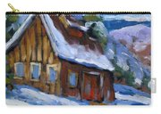 Hillsidebarn In Winter Carry-all Pouch