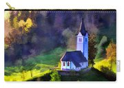 Hilltop Church In Misty Mountain Forest Carry-all Pouch