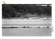 Hilton Head Island Shoreline In Black And White Carry-all Pouch