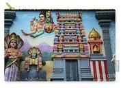 Hindu Deities On Wall Mural Of Sri Senpaga Vinayagar Tamil Temple Ceylon Rd Singapore Carry-all Pouch