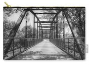 Hinkson Creek Bridge In Black And White Carry-all Pouch