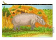 Hippo In The Savanna Carry-all Pouch