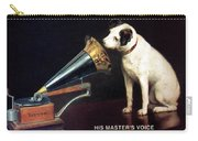 His Master's Voice - Hmv - Dog And Gramophone - Vintage Advertising Poster Carry-all Pouch