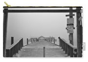 Historic Anna Maria City Pier In Fog Infrared 52 Carry-all Pouch