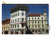 Historic Art Nouveau Buildings At Preseren Square White Tiled Ha Carry-all Pouch