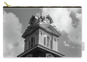Historic Courthouse Steeple In Bw Carry-all Pouch by Doug Camara