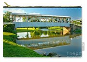 Historic Halls Mill Bridge Reflections Carry-all Pouch
