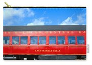 Historic Red Passenger Car, Austin & Carry-all Pouch