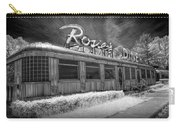 Historic Rosie's Diner In Black And White Infrared Carry-all Pouch
