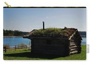 Historic Trappers Log Cabin Carry-all Pouch