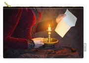 Historical Victorian Woman Reading A Letter By Candlelight Carry-all Pouch