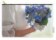 Historical Woman Holding A Bouquet Of Hydrangea  Carry-all Pouch
