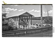 History At The Bend Black And White Carry-all Pouch