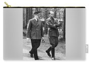 Hitler Strolling With Albert Speer Unknown Date Or Location Carry-all Pouch