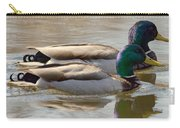 Two Mallards Swimming Quietly Carry-all Pouch