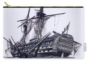 Hms Victory After The Battle Of Trafalgar, With Mizzen Topmast Shot Away Carry-all Pouch