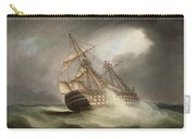 H.m.s. Victory In Full Sail And In A Squall Carry-all Pouch