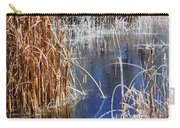 Hoar Frost On Reeds Carry-all Pouch
